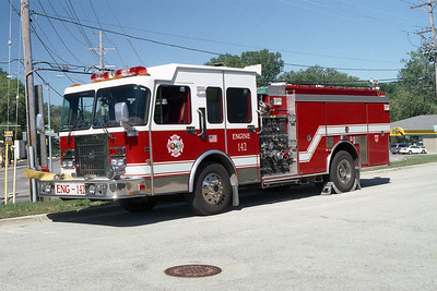 ALGONQUIN - LAKE IN THE HILLS FPD  ENGINE 142 1996 SPARTAN GLADIATOR - SMEAL 1500 - 750