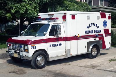HARVARD RESCUE SQUAD AMBULANCE 753