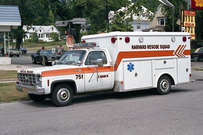 HARVARD RESCUE SQUAD  AMBULANCE 751