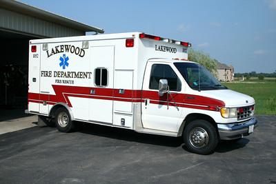LAKEWOOD AMBULANCE 1052  FORD E -