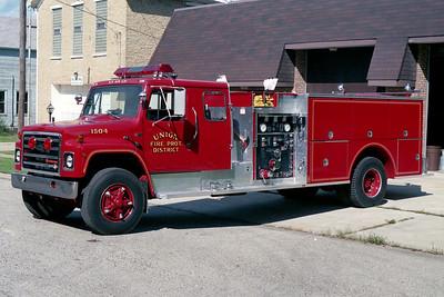 UNION FPD  ENGINE 1504  1989  IHC S1900 - PIERCE   750-1000   E-5038