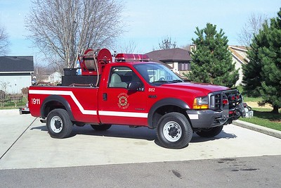 WOODSTOCK FIRE-RESCUE DISTRICT  BRUSH 62  1999  FORD F350 4X4 - FD BUILT   125-250