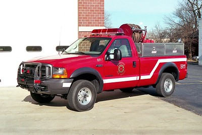 WOODSTOCK FIRE-RESCUE DISTRICT  BRUSH 61  1999  FORD F350 4X4 - FD BUILT   125-250