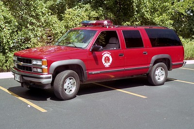 WOODSTOCK FIRE-RESCUE DISTRICT  CAR 1701  1995  CHEVY SUBURBAN