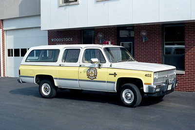 WOODSTOCK RURAL FPD  CAR 402  1991  CHEVY SUBURBAN