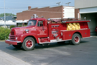 WOODSTOCK RURAL FPD  ENGINE 421  1963  IHC R190 - DARLEY   750-500   #15734