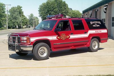 BRAIDWOOD VFD  CAR 2401  1996  GMC SUBURBAN 1500 4X4