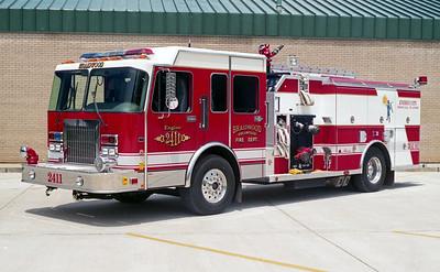 BRAIDWOOD FPD  ENGINE 2411  1996  SPARTAN GLADIATOR - ALEXIS   1500-1000   # 1585
