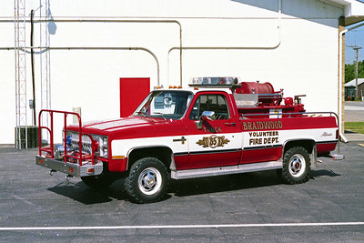 BRAIDWOOD FPD  BRUSH 85  1981  CHEVY SCOTTSDALE 30  4X4 - ALEXIS   250-150   SOLD TO CUSTER PARK FPD
