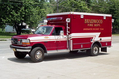 BTAIDWOOD FPD  SQUAD 2428  1992  FORD F350 - ROAD RESCUE  WATER RESCUE TEAM