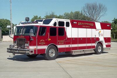 BRAIDWOOD VFD  SQUAD 2416  1997  E-ONE CYCLONE II   # 17736