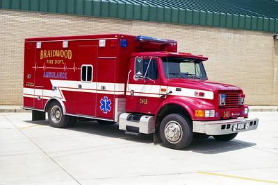 BRAIDWOOD FPD  AMBULANCE 2415 1994  IHC 4700 - ROAD RESCUE