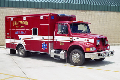 BRAIDWOOD FPD  AMBULANCE 2414  1994  IHC 4600 - ROAD RESCUE