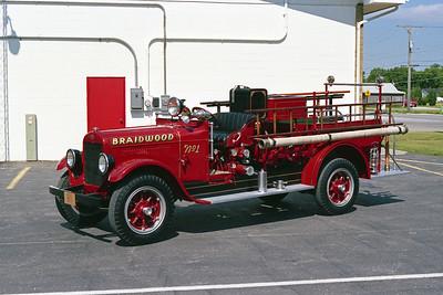 BRAIDWOOD FPD  ENGINE # 1  1928  REO - BOYER   400 GPM