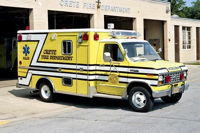 CRETE FD AMBULANCE 711  1983  FORD E350 - WELCH