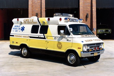 CRETE FD AMBULANCE 703  1976  DODGE - AMPAR