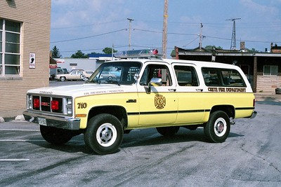 CRETE FD CAR 710  1986  GMC SUBURBAN   COMMAND CAR
