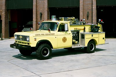 CRETE FD ENGINE 702  1972  IHC 4X4 - PIERCE   300-250