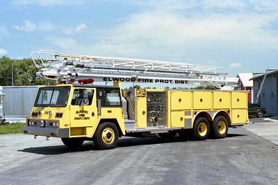 ELWOOD FPD  TRUCK 619  1982  PEMFAB - E-ONE   1250-300-75' TELESQURT   #1951