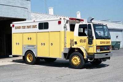 ELWOOD FPD  SQUAD 616  1985  FORD CARGOSTAR - McCOY MILLER  WALKIN