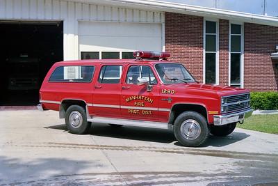 MANHATTAN FPD  CAR 1290  1984  CHEVY SCOTTSDALE 4X4