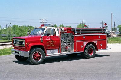 MANHATTAN FPD  ENGINE 1212  1978  CHEVY C5 - E-ONE   1000-750   #370