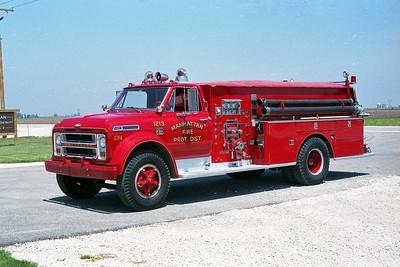 MANHATTAN FPD  ENGINE 1213  1968  CHEVY C65 - DARLEY   750-750