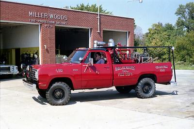 MILLER WOODS  BRUSH 456  1973 DODGE W200 4X4 - FD  100-170   RED