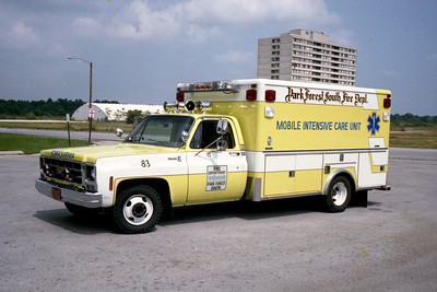 PARK FOREST SOUTH AMBULANCE 83  CHEVY