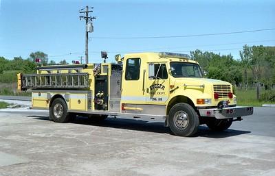 STEGER  ENGINE 111 1992 IHC 4900 - DARLEY  1250-1000   RENUMBERED