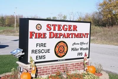 STEGER FD  STATION SIGN