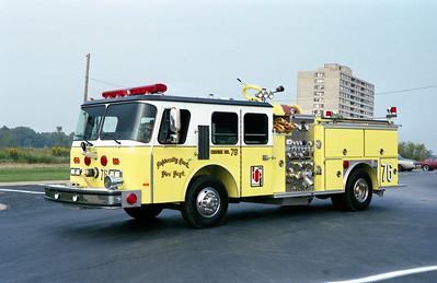 UNIVERSITY PARK FD  ENGINE 78  1989  E-ONE CYCLONE   1500-500   #6818