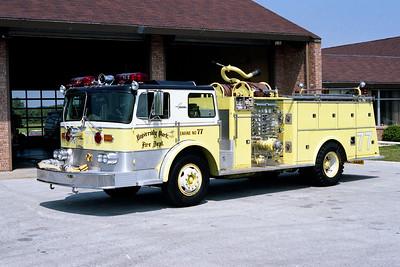 UNIVERSITY PARK FD  ENGINE 77  1972  AMERICAN   1250-500   #3408