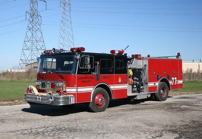 UNIVERSITY PARK FD  ENGINE 77  1984 SPARTAN - FMC  1250-750  2001 PIERCE REHAB    F-4654X- BEECHER