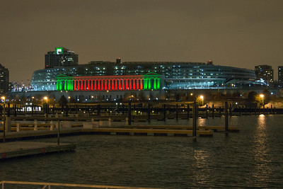 SOLDIER FIELD AT NIGHT