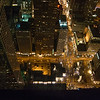 LOOKING DOWN ON CHICAGO FRON THE HANCOCK TOWER