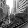 ON THE L TRAIN B&W