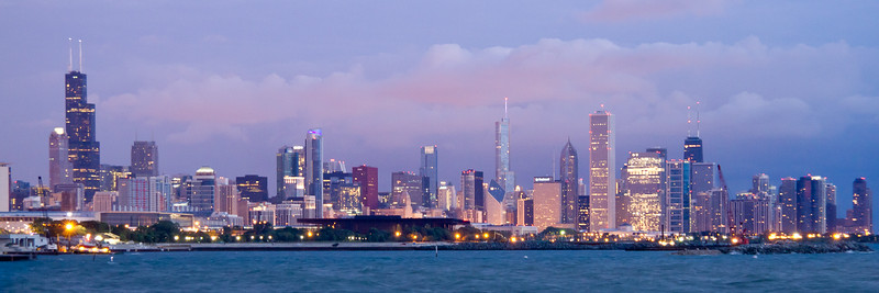 Chicago Skyline at dawn