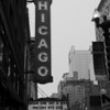 CHICAGO SIGN AND MARQUEE B&W