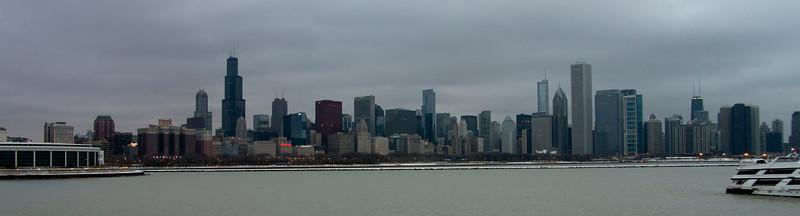CHICAGO WINTER SKYLINE