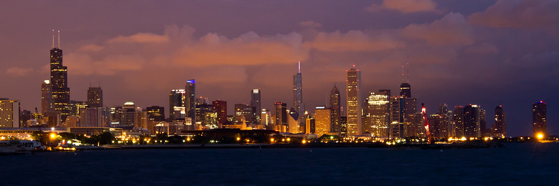 Chicago skyline pre dawn