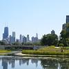 LINCOLN PARK ZOO BRIDGE WITH CHICAGO SKYLINE