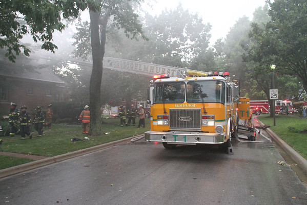 ELMHURST, IL BOX ALARM (3RD ALRM LEVEL RESPONSE) 223 N. OAK ST. (08-04-2012)
