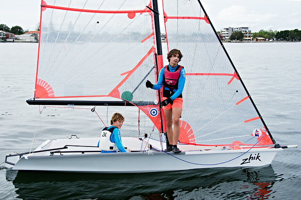 Children sailing. April, 2013: Editorial