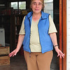 The woman that owns one of the two supermarkets that remain open in Chaiten