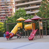 The playground at Plaza Peru. Always a busy place.
