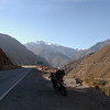 Heading into the Andes Mountains, north of Santiago, Chile