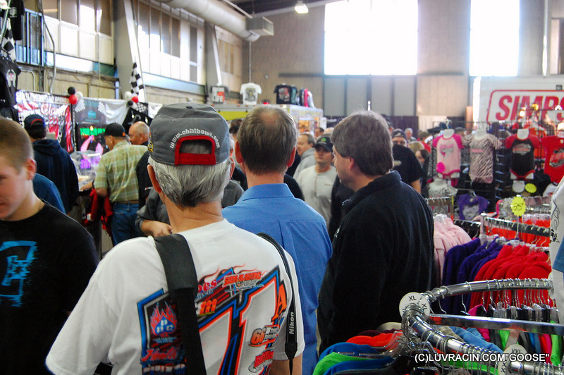 VENDOR ROW FULL OF RACE FANS