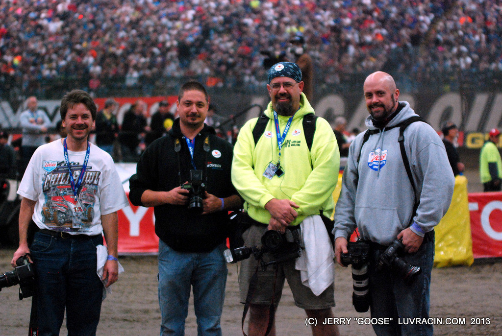 The back stretch Gang ! Chili Bowl 2013 Ok the Flasher moved in ?