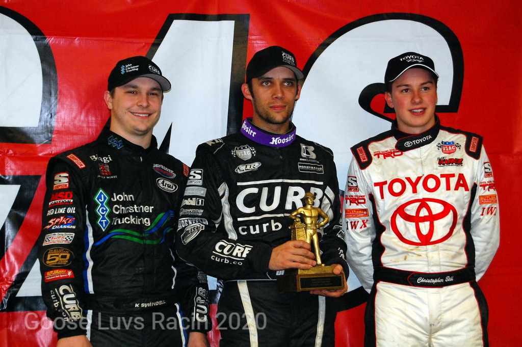 BRYAN CLAUSON WINNER , KEVIN SWINDELL P-2 CHRISTOPHER BELL, P-3